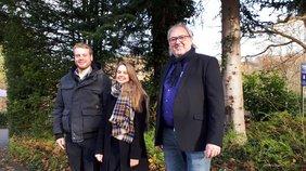 DGB-Jugend Siegen-Wittgenstein mit neuem Vorsitz (v.l. Yannik Steinseifer, Svenja Thelen, Ingo Degenhardt)