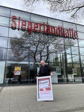 DGB Siegen-Wittgenstein zum AfD-Landesparteitag zur Aufstellung der Bundestagskandidaten in der Siegerlandhalle