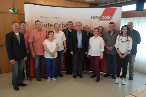 DGB-Kreisverbandsvorstand Siegen-Wittgenstein