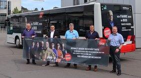 """DGB bringt Kampagne """"Vergiss nie, hier arbeitet ein Mensch!"""" auf die Straße"""