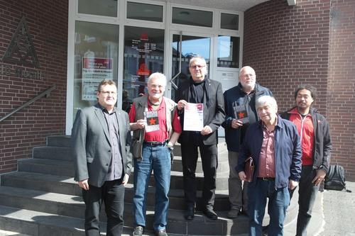 1. Mai – Tag der Arbeit in Siegen! Teilnehmer des gemeinsamen Pressegesprächs.