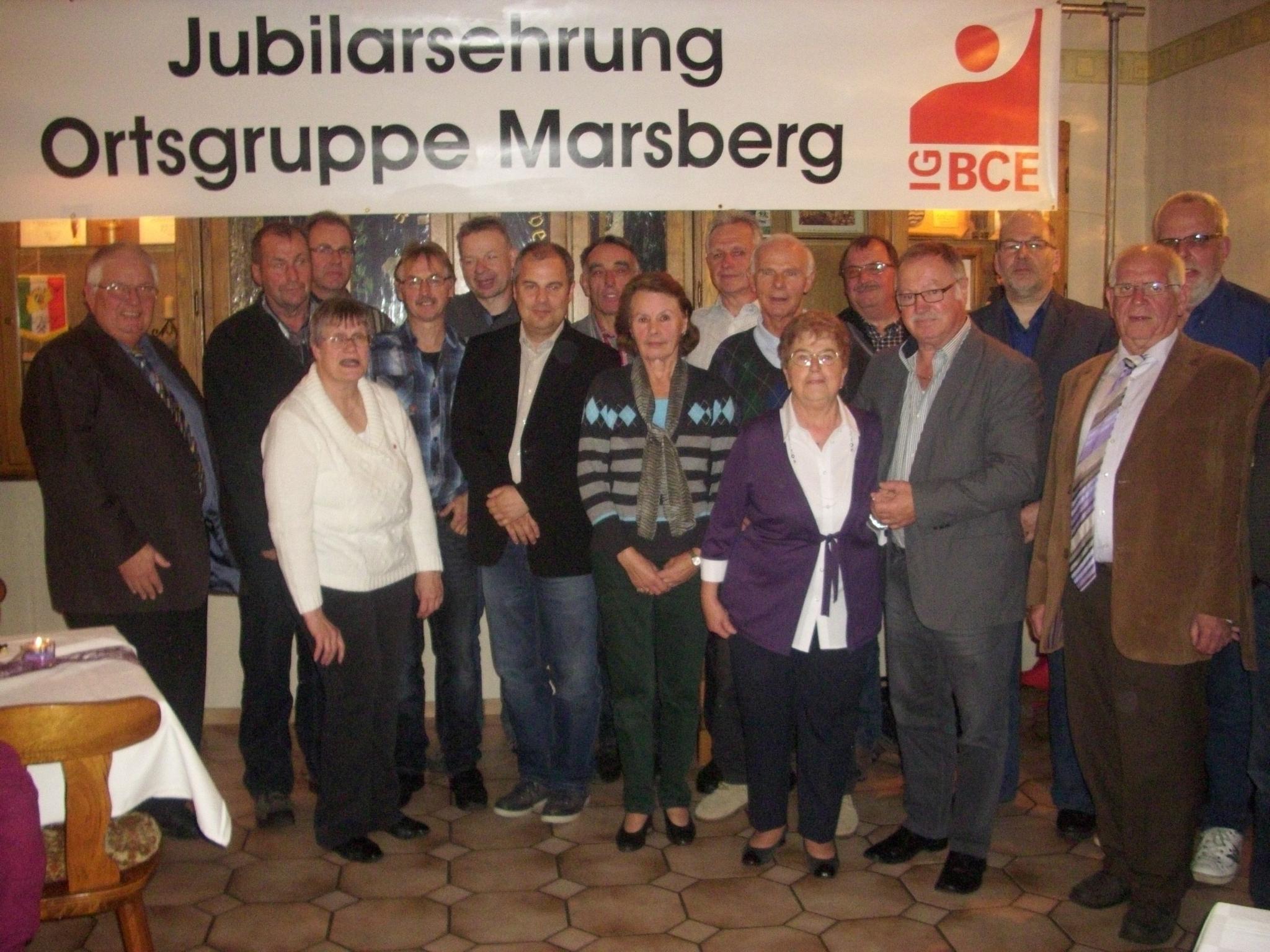 IG BCE Ortsgruppe Marsberg ehrt Jubilare