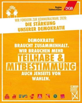 Demokratie braucht Teilhabe und Beteiligung!