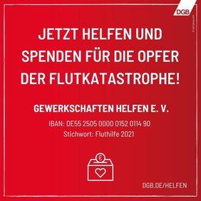 DGB ruft zu Spenden für Flutopfer auf