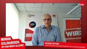 Bernd Peters, Vorsitzender DGB-Kreisverband Hochsauerlandkreis