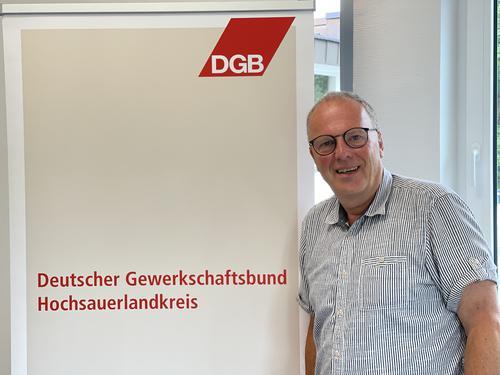 Organisationswahlen beim DGB: Dietmar Schwalm neuer Kreisverbandsvorsitzender im HSK