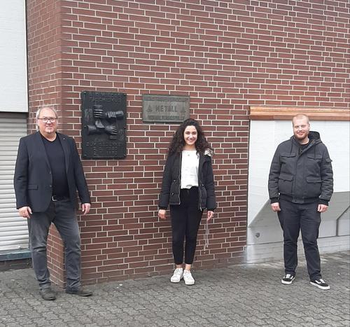 Foto: v.l. Ingo Degenhardt (DGB-Geschäftsführer), Zeyneb Abbas Karim (DGB-Jugendbildungsreferentin), Yannik Steinseifer (Vorsitzender DGB-Jugend Siegen-Wittgenstein)