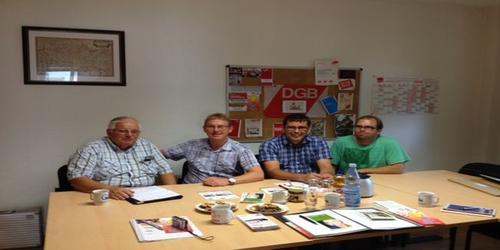 IG BCE Ortsgruppe Arnsberg zu Besuch bei DGB Hochsauerlandkreis