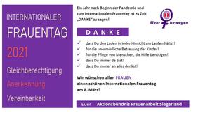 Was Frauen wollen! Die Wünsche des Aktionsbündnis Frauenarbeit Siegerland zum Internationalen Frauentag 2021.