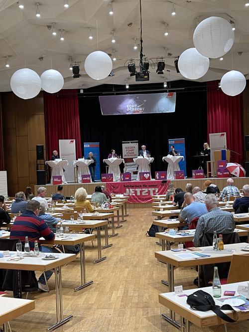 Wahlarena des DGB in Siegen-Wittgenstein zur Bundestagswahl am 15. September 2021
