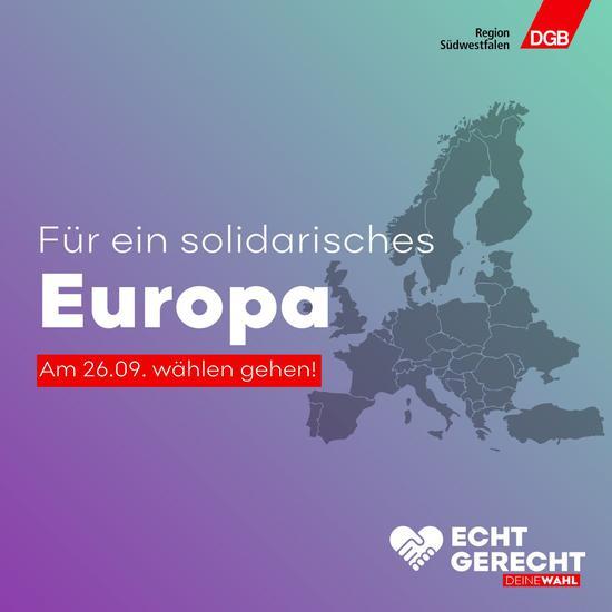 Solidarisches Europa verwirklichen – Europas Handlungsfähigkeit für die Gestaltung einer fairen Globalisierung sichern: