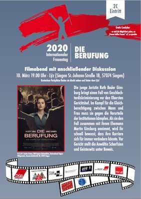 Filmabend mit anschließender Diskussion am 10. März 2020