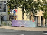 DGB-Banneraktion zur Bundestagswahl in Freudenberg
